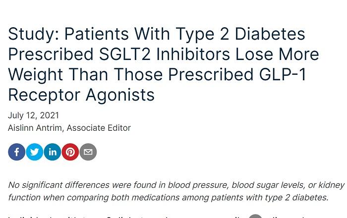 sglt2阻害薬とGLP-1注射薬の体重減少効果